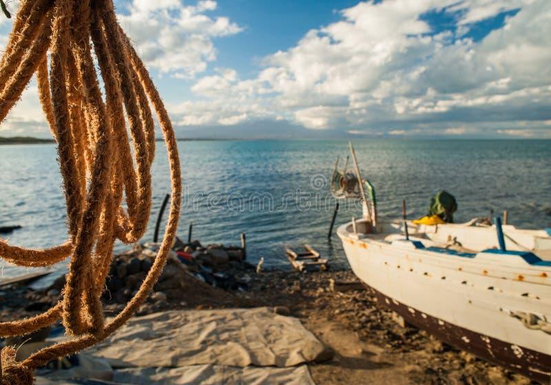 Corda da pesca fotografia de stock