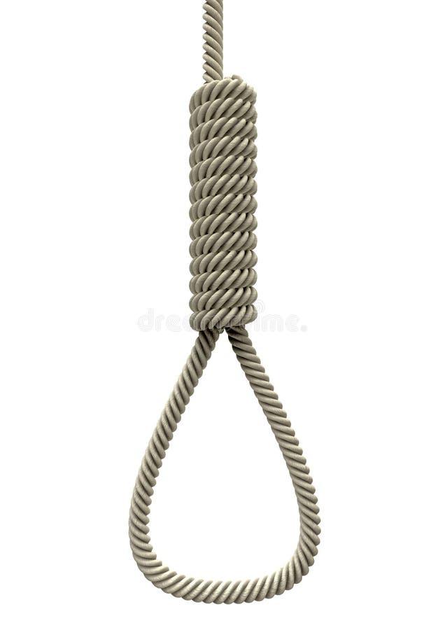 Corda da soga de Hangmans ilustração do vetor