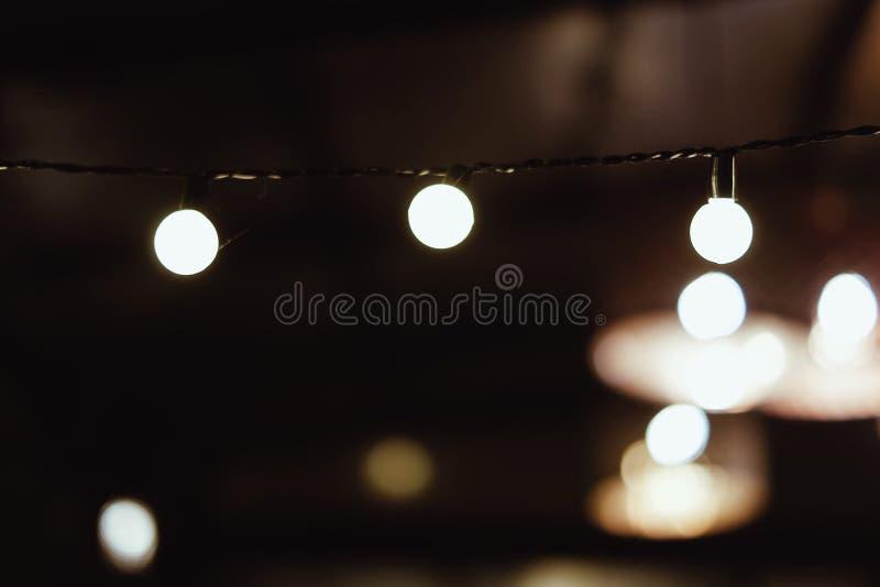Corda das luzes fotos de stock royalty free