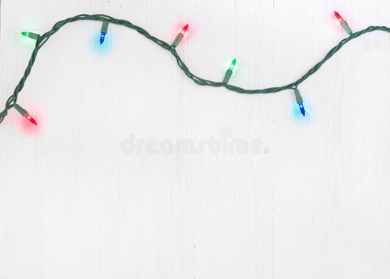 Corda das luzes de Natal imagem de stock