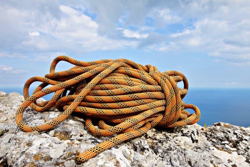Corda de escalada fotografia de stock royalty free
