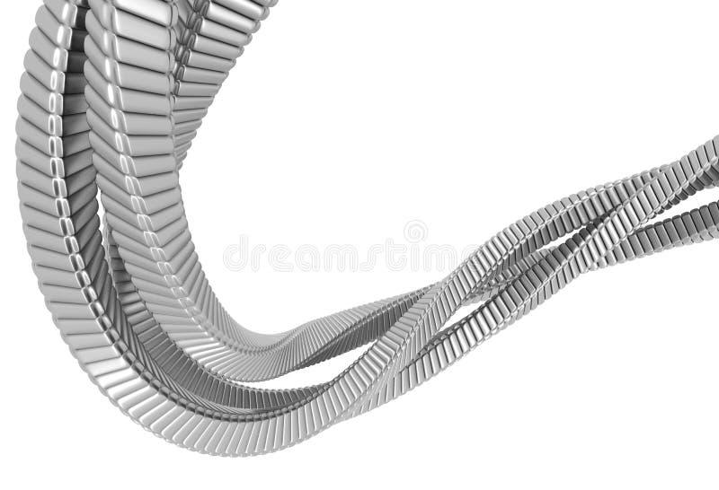 Corda de prata do sumário do metal ilustração stock