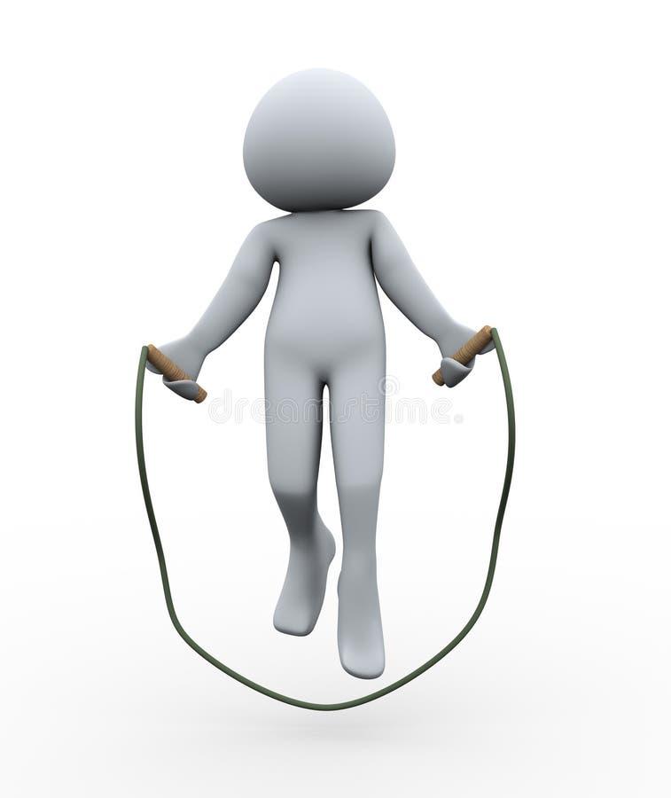 Download Corda De Salto Da Pessoa 3d Ilustração Stock - Ilustração de humanoid, ativo: 26515679
