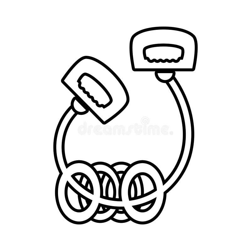 Corda de salto le com esporte dos anéis ilustração stock