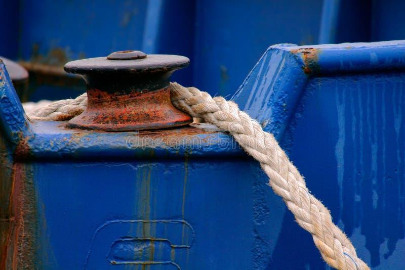 Corda dell'ancoraggio fotografie stock libere da diritti