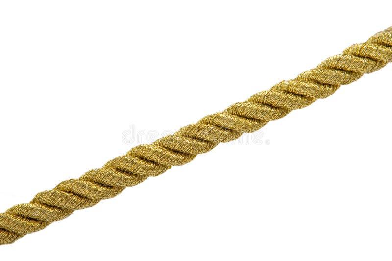 Corda dell'oro isolata fotografia stock libera da diritti