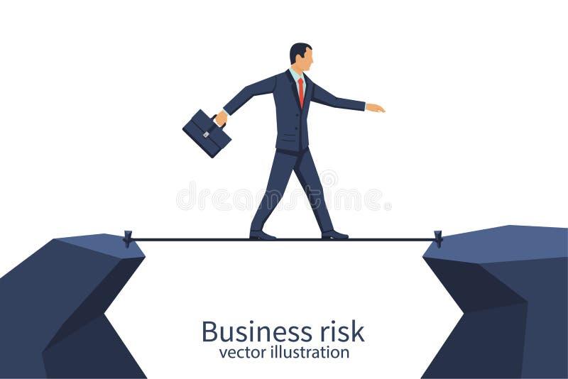 Corda di rischio d'impresa illustrazione di stock