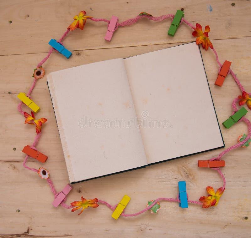 Corda do caderno fotos de stock