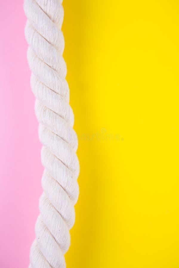 Corda do mar em fundos coloridos com espaço negativo Parte traseira do verão imagem de stock