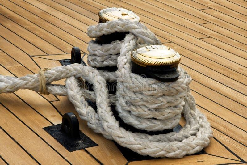 Corda do navio foto de stock