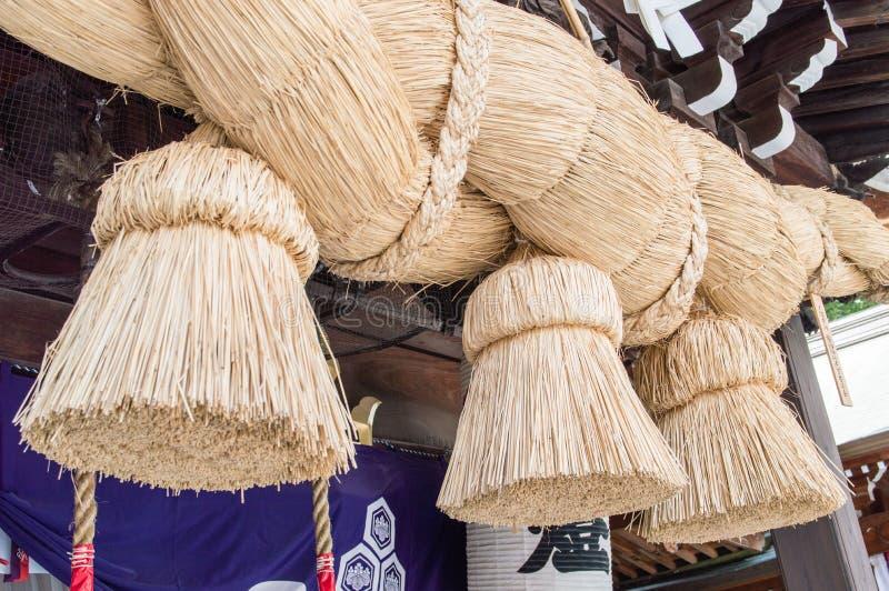 Corda do santuário de Kushida imagens de stock