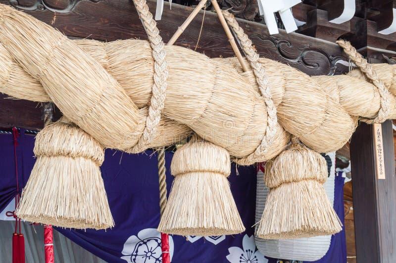 Corda do santuário de Kushida fotografia de stock