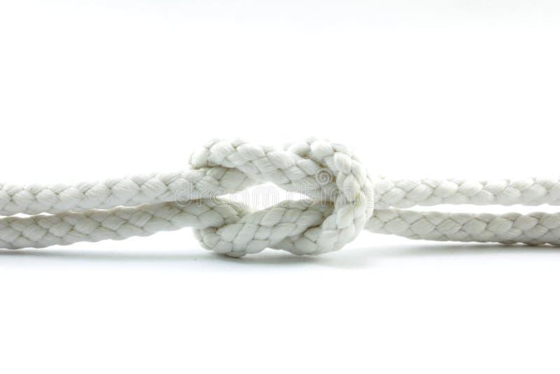 Corda e corda annodata fotografia stock