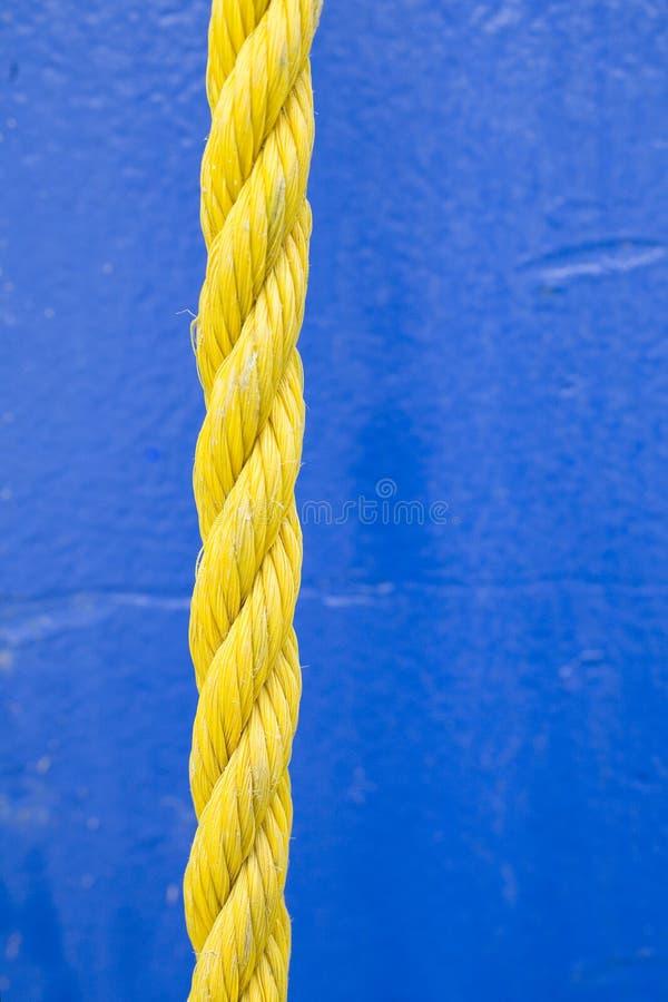 Corda gialla fotografia stock