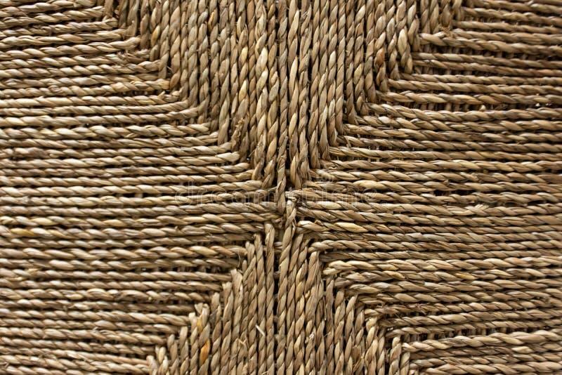 Corda intrecciata a strisce usata come fondo fotografie stock