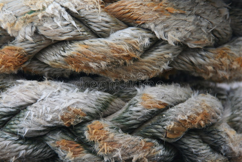 Corda molhada imagem de stock