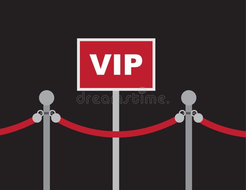 Corda rossa del segno di VIP royalty illustrazione gratis