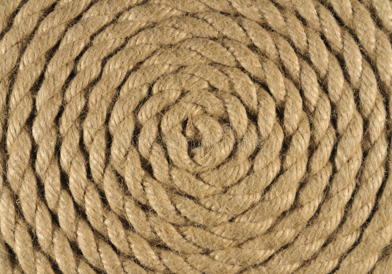 Corda a spirale immagine stock
