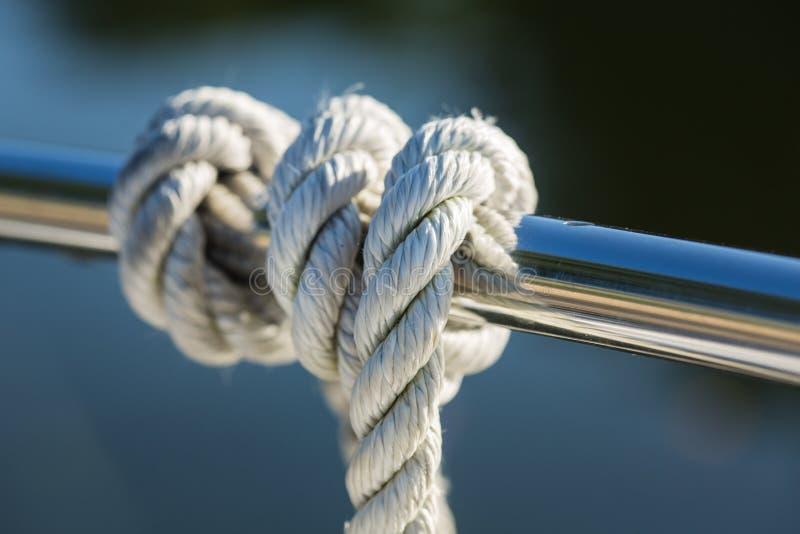 Corda sulla barca fotografia stock libera da diritti