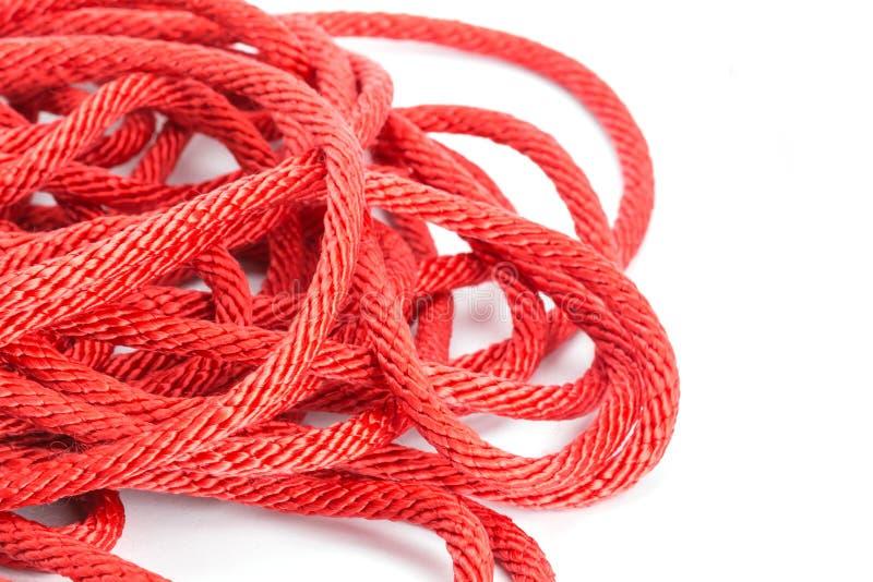 Corda vermelha imagem de stock