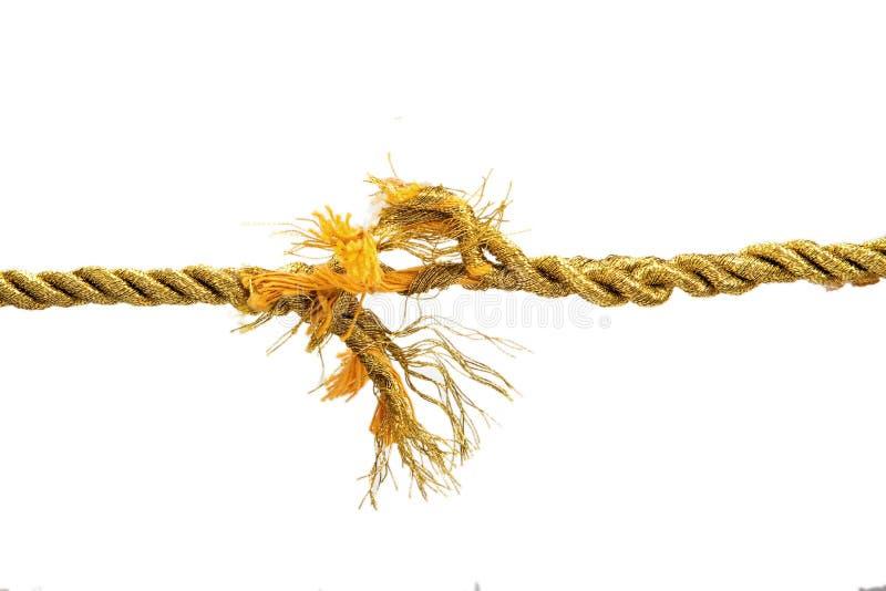 Corda violenta dell'oro fotografie stock libere da diritti