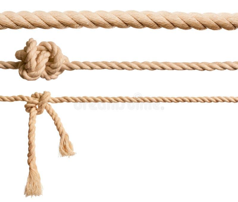 Cordas ajustadas isoladas fotografia de stock