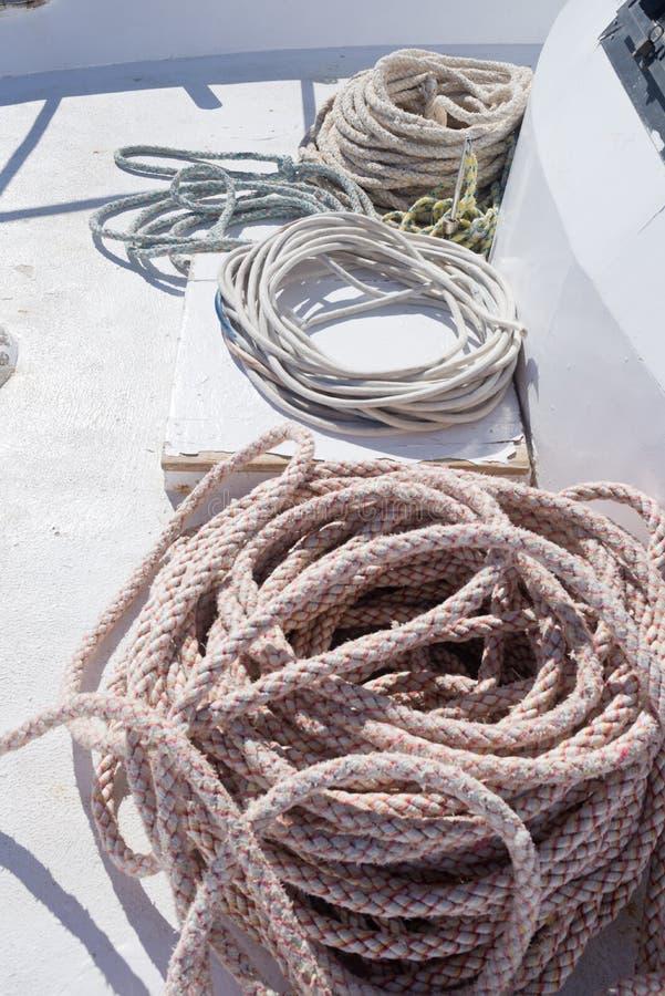 Cordas de barco imagem de stock royalty free