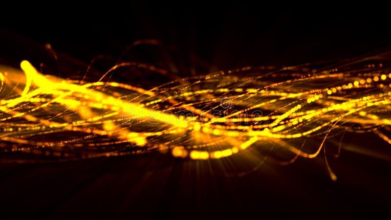 Cordas 3 do brilho imagem de stock