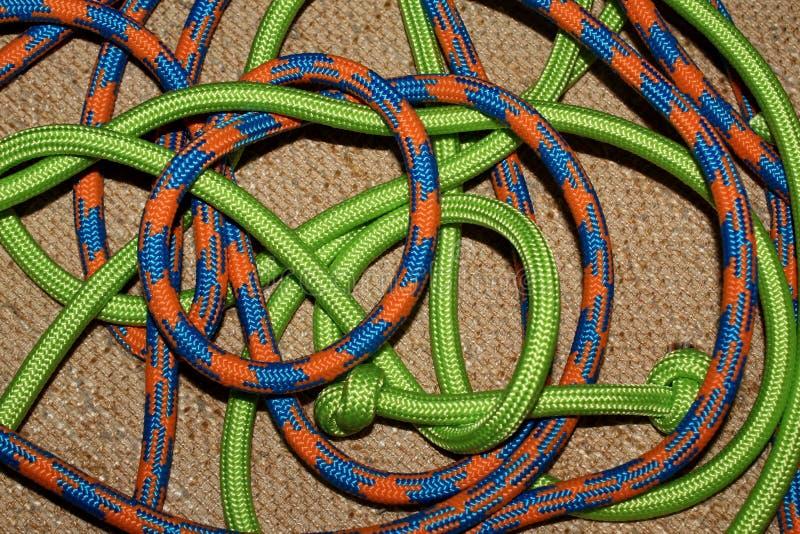 Cordas envolvidas coloridas foto de stock royalty free