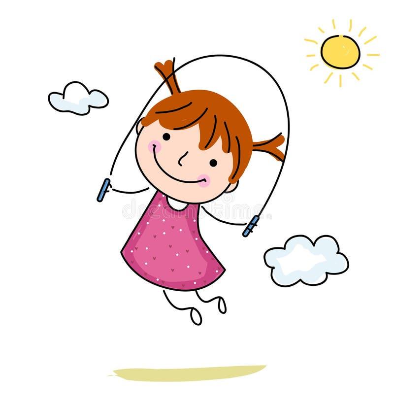 corde sauter de petite fille illustration de vecteur illustration du fond fitness 49118562. Black Bedroom Furniture Sets. Home Design Ideas