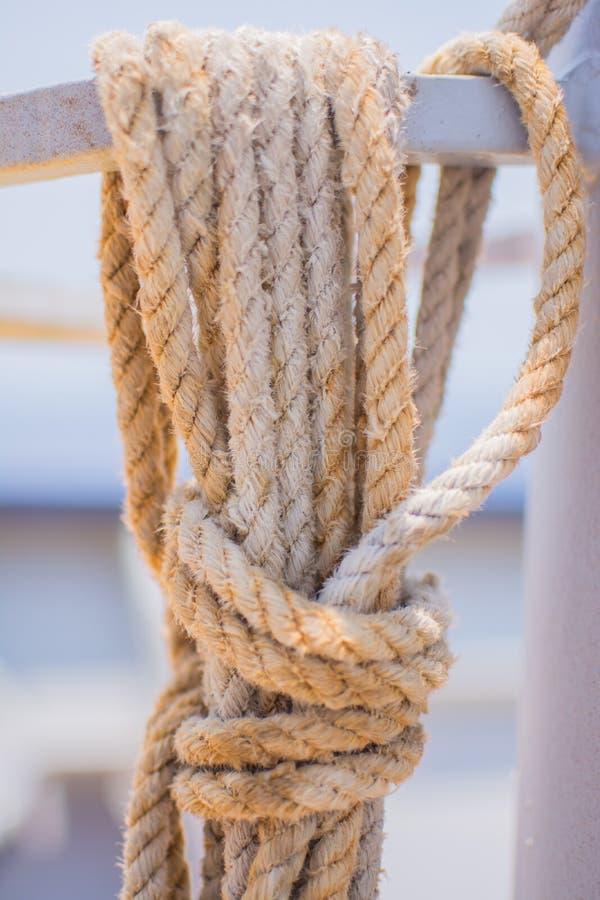 Corde attachée image libre de droits