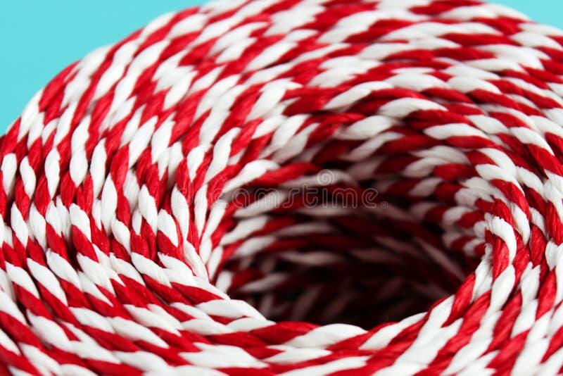 Corde blanche rouge de Noël d'emballage photo stock
