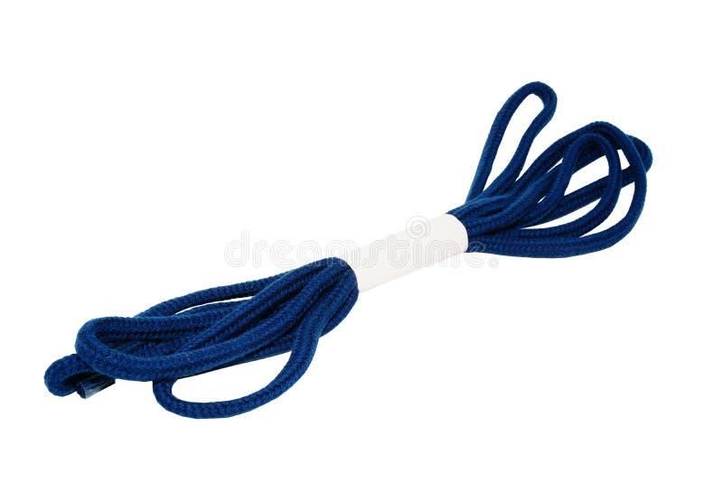 Corde bleu-fonc? d'isolement image libre de droits
