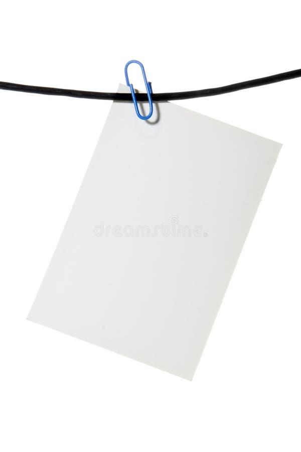 Corde de clip de livre blanc photos stock