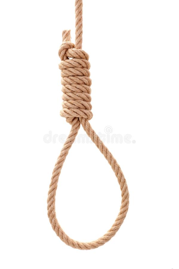 Corde de potence avec le noeud images libres de droits