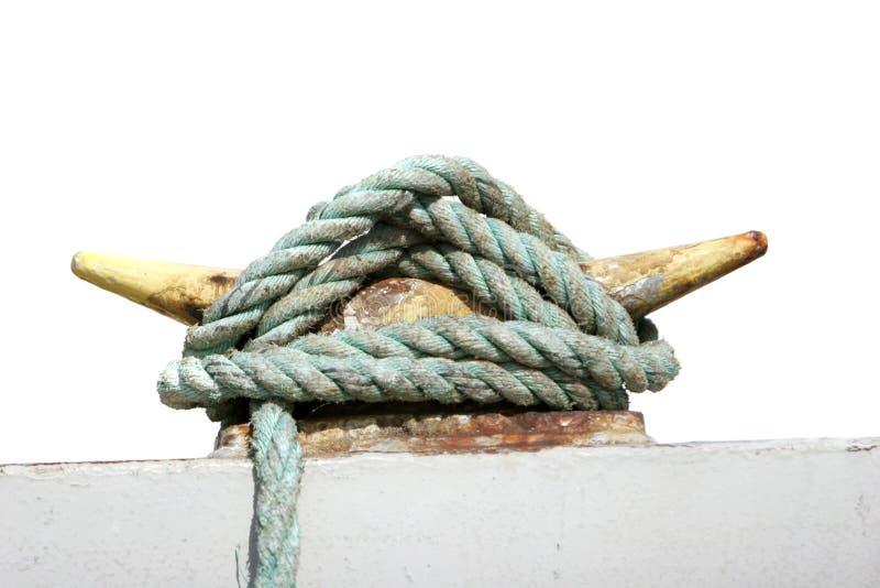 Corde de sécurité d'un bateau image stock