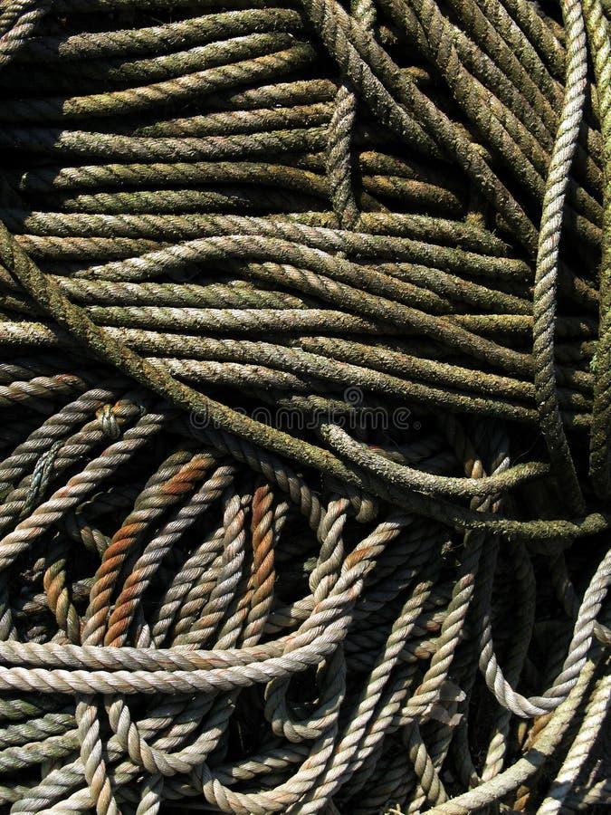 Corde dei pescatori fotografie stock libere da diritti