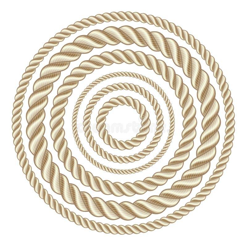 Corde del cerchio illustrazione di stock