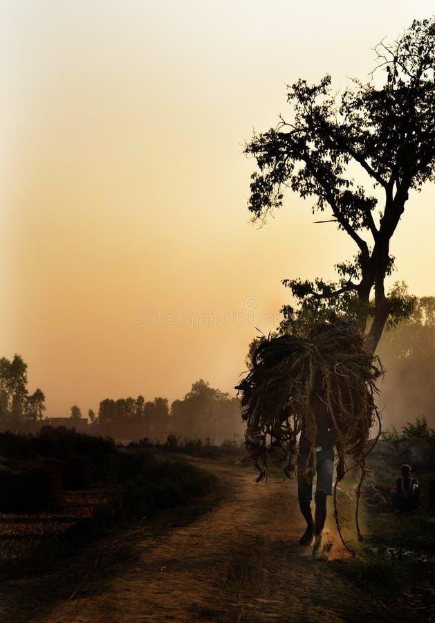 Corde di trasporto dell'agricoltore immagini stock