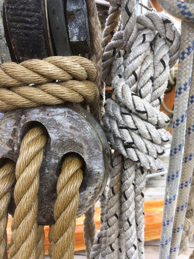 Corde, corde e corde fotografia stock