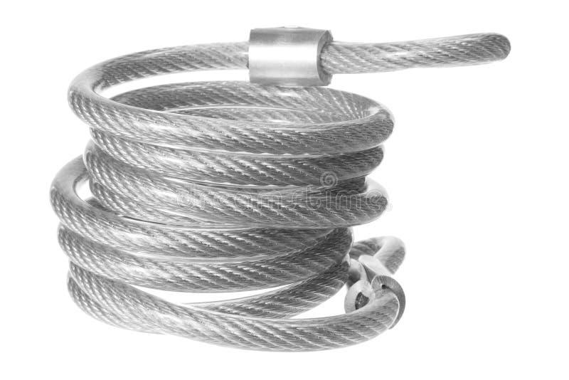 Corde en acier photographie stock