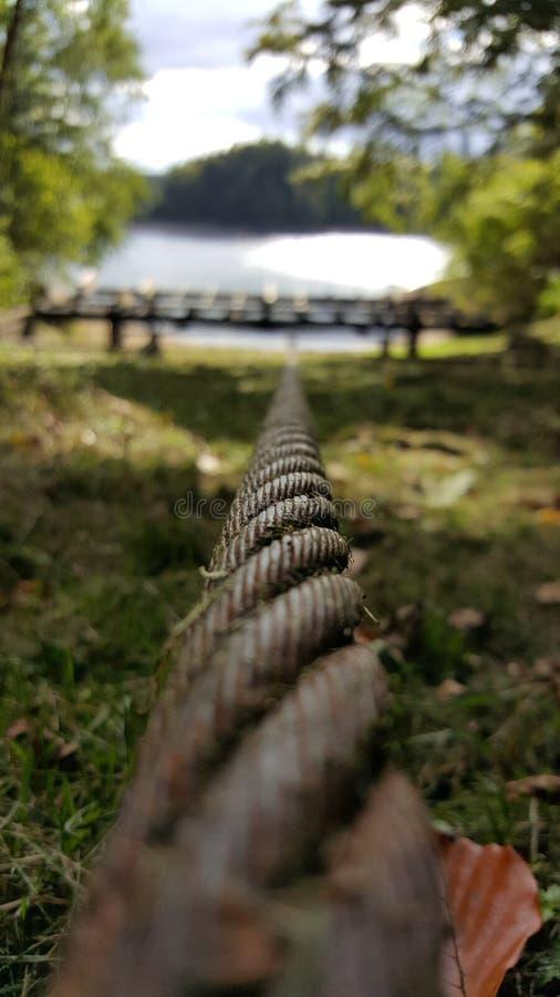 Corde en acier focalisée photo libre de droits