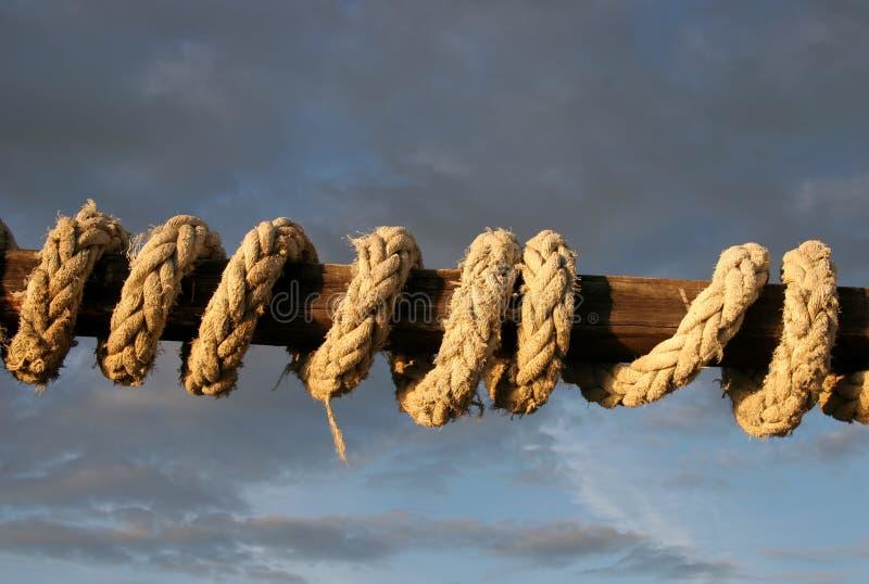 Corde enroulée photographie stock libre de droits