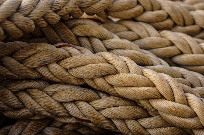 Corde sur le bateau image libre de droits
