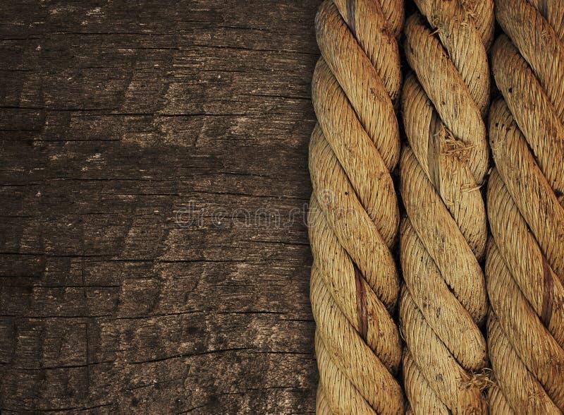 Corde sur le bois image libre de droits