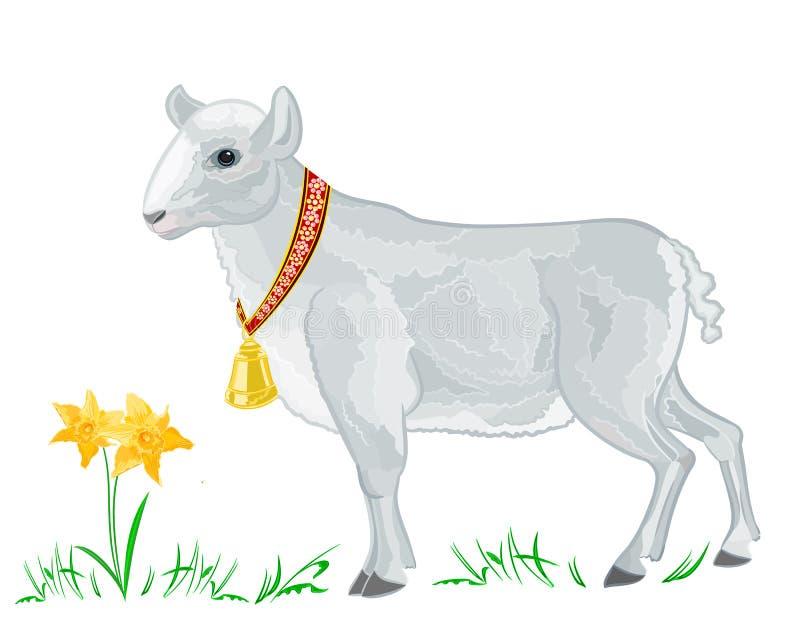 Cordeiro da Páscoa ilustração stock