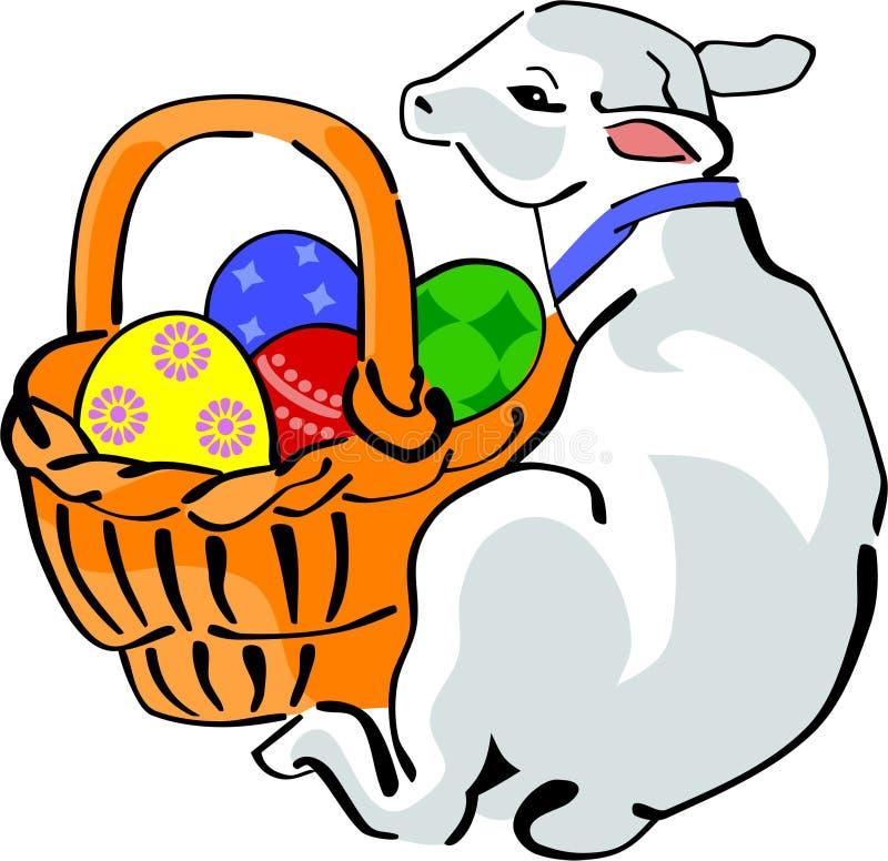 Cordeiro de Easter ilustração stock