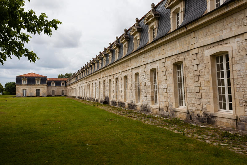 Corderie Royale的角落在Rochefort 库存图片