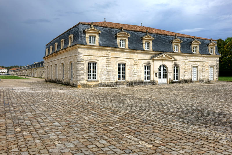 Corderie Royale Rope Factory in Rochefort Francia fotografia stock