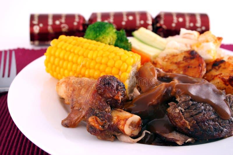 Cordero de carne asada de la Navidad imagen de archivo